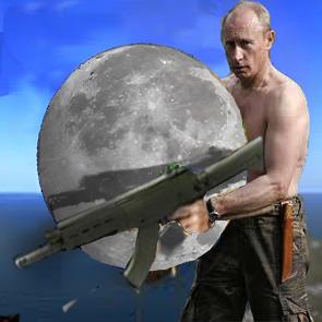 Putin and Riussia and moon