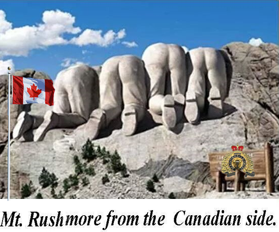 Reverse Canada rushmore