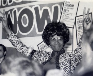 Shirley Chisholm, the first black woman elected to congress.  Spoke for the poor