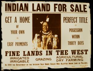 Image of historic leaflet selling Indian land