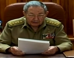 Raul Castro thanks President Obama, Pope Francis and Canada.