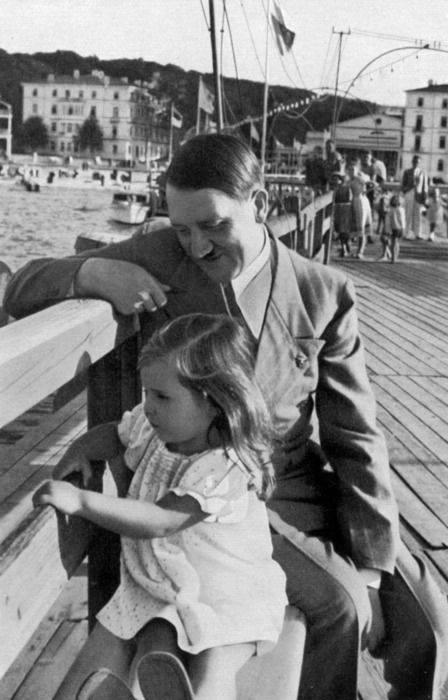 Hitler with Goebells daughter