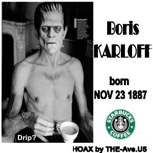 Karloff Boris Halloween Drip coffee