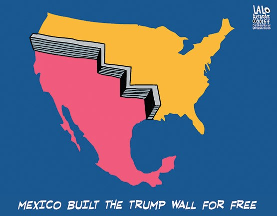 Mexico Will Gladly Build Trumps Wall TheAveUS - Map of us mexico wall