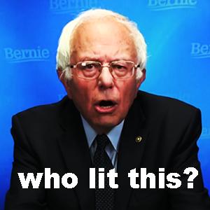 Bernie lit this who bernie ico