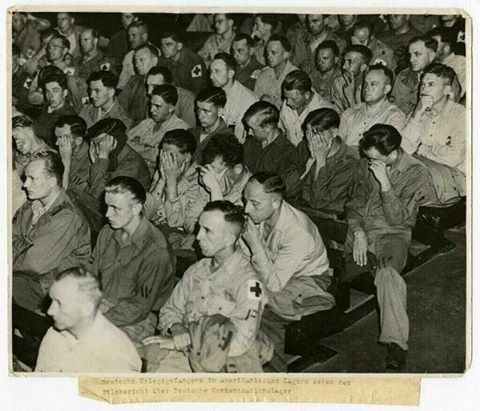 Nazis seeing movies of camps