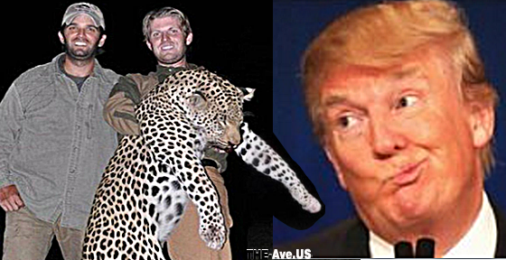 n case you don't know, the Trump boys went on a kill safari in 2012, and proudly posed with the African leopard and water buffalo they had slaughtered. Another photo shows them laughing beside a noose from which hangs an alligator. Does it get worse than two great white hunters and an animal noose in Africa?