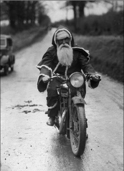 Sanat on a bike